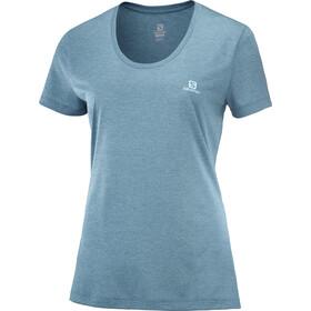 Salomon Agile SS skjorte Damer, blå